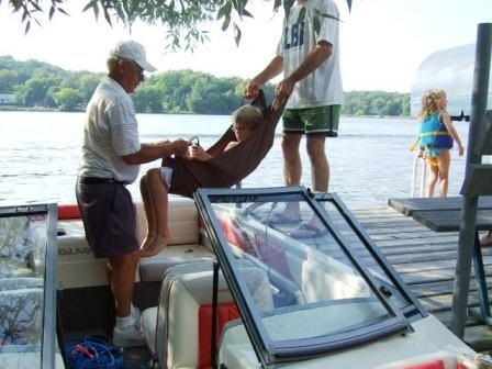 Transfer Swing to the Boat